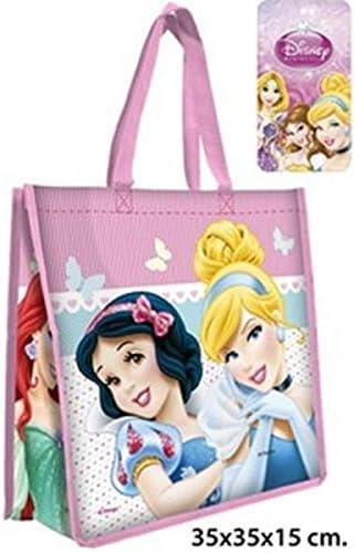 35x35x15cm. Disney princess- Bolsa rafia