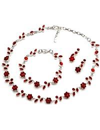 Floral Vine 3-Piece Necklace, Earrings & Bracelet Jewelry Set 1556