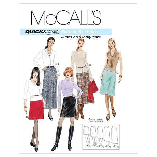 Mccalls Misses Skirt - McCall's Patterns M3341 Misses' A-Line Skirts In Five Lengths, Size DD (12-14-16-18)