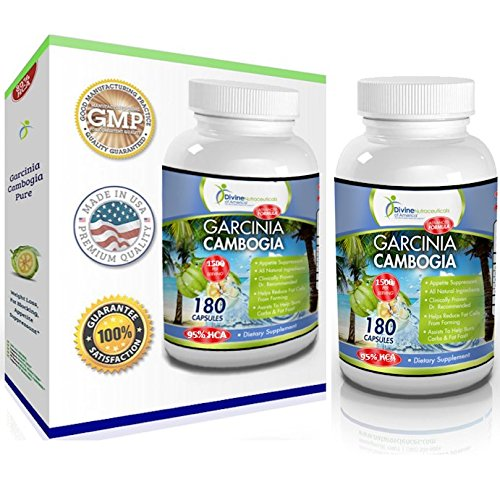 Garcinia Cambogia Advanced Formula 95% HCA Extract 1500mg 180-Capsules All-Natural Weight Management Calcium-Free* Fat Buster Sale (Slim Vox Weight Loss Pills)