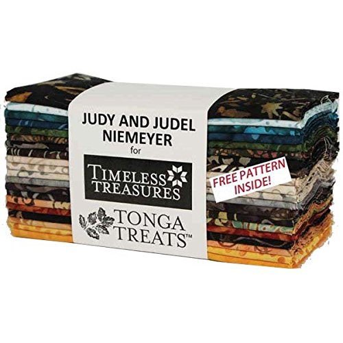 Timeless Treasures Painters Palette Tonga Batiks 6 Pack 20 strips 6 x 44 by Timeless Treasures