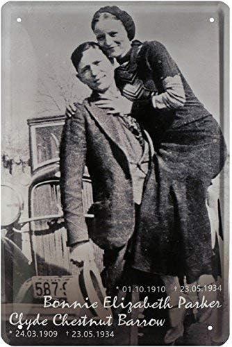 HMDECO Bonnie & Clyde – The Legendary Gangster Duo 20 x 30 Retro ...