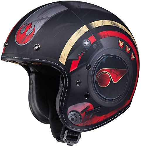 - HJC IS-5 Star Wars Poe Dameron 3/4 Motorcycle Helmet Black Medium