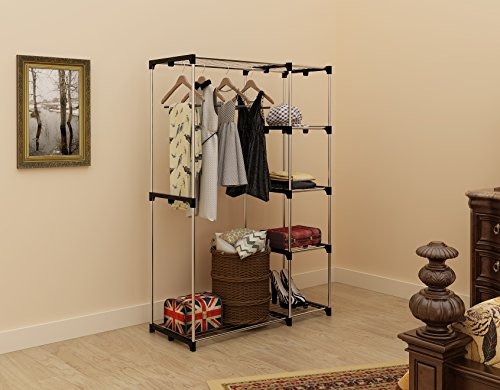 homebi-freestanding-closet-organizer-double-rod-garment-rack-metal-wire-shelving-unit-clothing-organizer-with-double-hangers-and-5-tier-shelves-in-silver-453w-x-177-d-x-673h