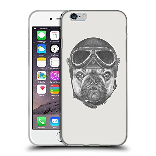 """GoGoMobile Coque de Protection TPU Silicone Case pour // Q05250631 Casque bulldog Platine // Apple iPhone 6 PLUS 5.5"""""""