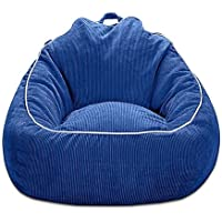 Corduroy Bean Bag Chair in Navy