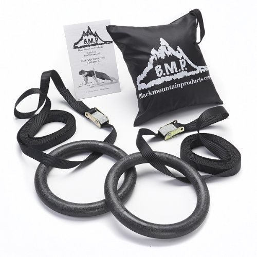 Black Mountain Products 1200lbs Rated Multi-Use Exercise Gymnastics Rings