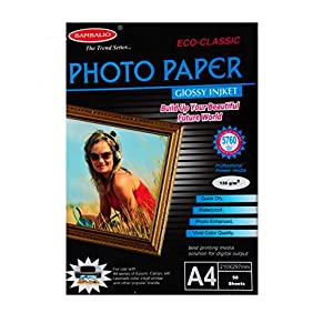 Bambalio BPG 135-50 (Classic) 135 GSM Glossy Photo Paper, A4 Size Pack Of 50 Sheets