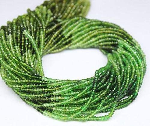 precios ultra bajos GEMS-WORLD BEADS GEMSTONE Chrome verde Tourmaline Faceted Micro Micro Micro Rondelle Loose Craft Beads Strand 14  3mm  servicio de primera clase