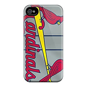 Protector Hard Cell-phone Cases For Iphone 4/4s (MzV12657UUpl) Custom Stylish St. Louis Cardinals Pictures