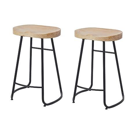 Fantastic Amazon Com Bar Stools Retro Wood Top Metal Vintage Rustic Forskolin Free Trial Chair Design Images Forskolin Free Trialorg