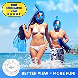 Full Face Snorkel Mask for Woman and Men
