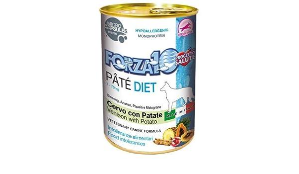 Forza10 F10 Perro Pate Diet Ciervo/Arroz Gr. 400: Amazon.es: Productos para mascotas