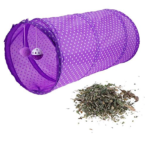 BoKa-Store - 4 color Popular cat toy combination cat tunnel + catnip Collapsible Funny Pet Cat Play Tunnel Tubes Kitten Puppy Ferrets