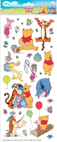 Disney Flat Stickers, Pooh and Friends, (Pooh Scrapbook)