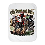 Royal Lion Baby Blanket White Gitn' Down and Dirty Dirt Bikes
