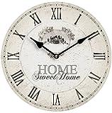 Premier Housewares 2200542 Orologio da Parete, Home Sweet Home, MDF
