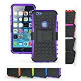 zagg power cord - iPhone 6s Stand Case, HLCT Rugged Shock Proof Dual-Layer Case with Built-In Kickstand for iPhone 6s / 6 (Purple/ No Logo)