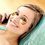Adofect 30 Pairs Gold Collagen Under Eye Mask