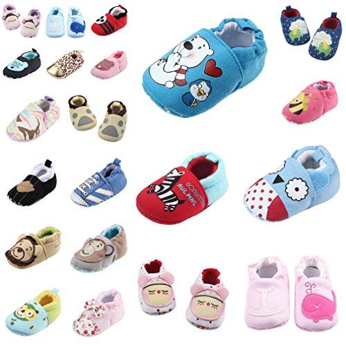 Smile YKK (0-12 Monate) Baby Jungen Mädchen krippeschuhe krabbelschuhe Lauflernschuhe 12 Cartoon # A Cartoon # N