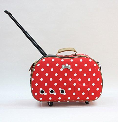 NAUY- Haustier-Gepäck EVA-Punkte Haustier-Trolley-Fall Erhöhen Sie den Hund und Hund bar Airbag ( Farbe : #3 )