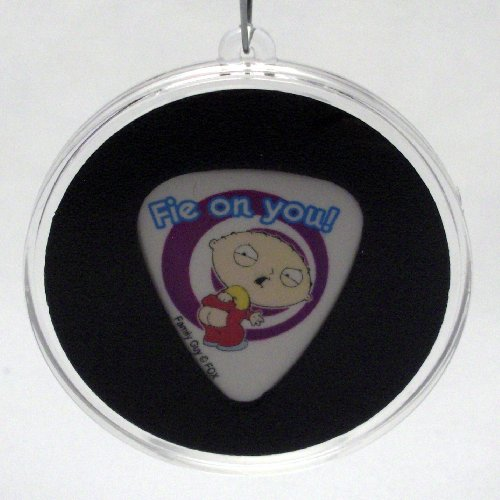 Family Guy Stewie Fie Guitar Pick With MADE IN USA Christmas Ornament Capsule