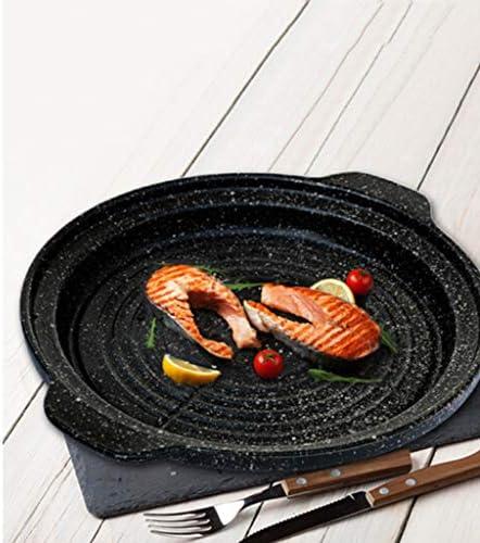Cuisinière À Induction De Cuisson Céramique Pan, Pan De Cuisson Barbecue Maifan Ronde En Pierre, Multi-fonction Des Ménages Non-bâton De Cuisson Pan
