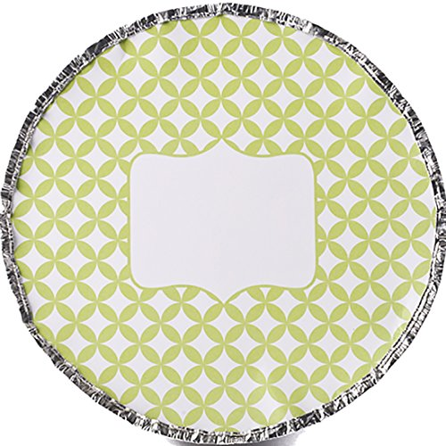 Simply Baked Round Baking and Take-out Pan, 9-Inch/44-Ounce Capacity, Lime Medallion, 6-Pack, Disposable, Oven & Freezer Safe Foil Pan with Paper ()