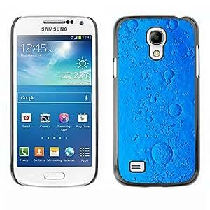 rígido protector delgado Shell Prima Delgada Casa Carcasa Funda Case Bandera Cover Armor para Samsung Galaxy S4 Mini i9190 MINI VERSION! /Ocean Virus Cookie Blue Planet/ STRONG