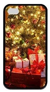 amazing Christmas Tree Decorating amazing Christmas Decorations and amazing Custom iPhone 4s/4 Case Cover TPU Black New Year gift