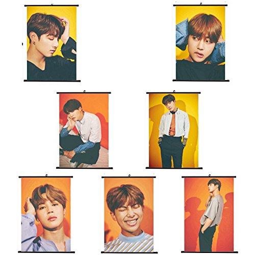 Kpop BTS Bangtan Boys The Wings Tour Poster Wall Scroll Hang