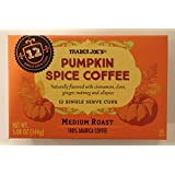 Trader Joes Pumpkin Spice Medium Roast Coffee, 12 Single Serve K-Cup Box (12 ...