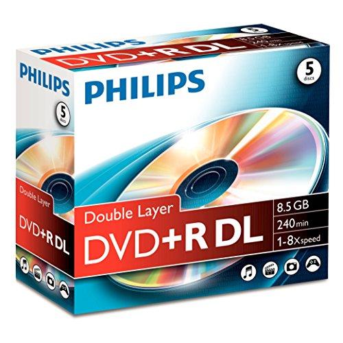 Philips DVD+R DR8S8J05C - DVD+R DL 8.5 GB, 240 min, Speed 8X