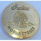 Brass Indian Motorcycle Biker Badge Pin