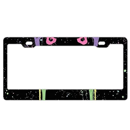 33a673b06f60 GREDBH Bear Bones customized License Plate Frame Tag Holder 2 Holes US  Plate Covers