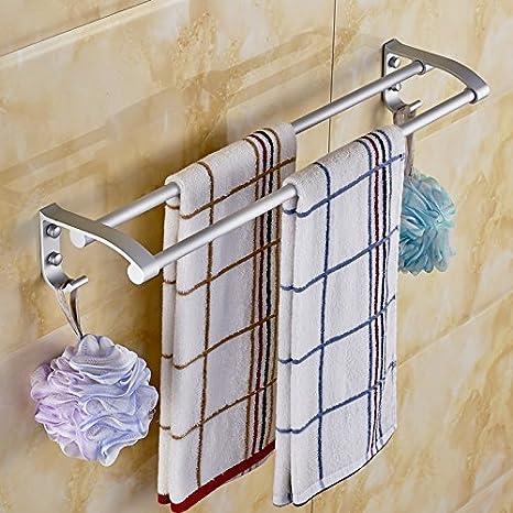 Toalla de baño o cocina Bar titular de Rack de almacenamiento de montaje en pared,organizar todo el estante con toallas y toallas,Espacio Toallero Aluminio ...