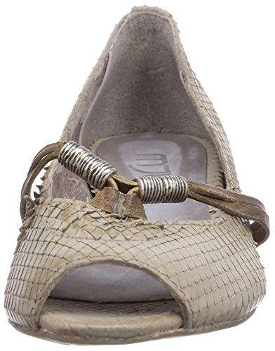 Mjus 290109-2880-8358 - Sandalias de vestir de cuero para mujer marfil - Elfenbein (sabbia+kaki)