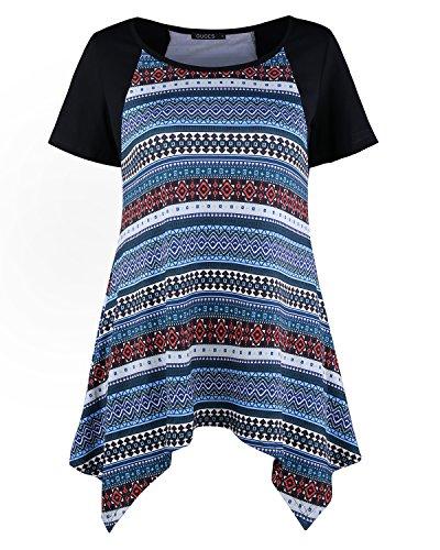 ouges-women-bohemia-patchwork-short-sleeve-tunic-tops-casual-basic-shirtblackxl
