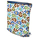 Planet Wise Wet Diaper Bag, Monkey Fun, Medium