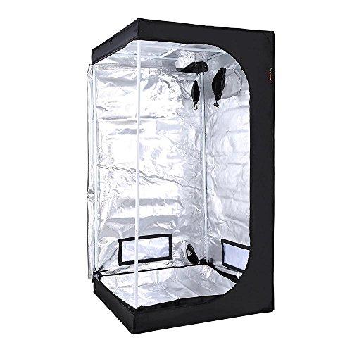 "51gmFs4l3wL - LAGarden 32x32x63"" Hydroponics Grow Tent 100% Reflective Diamond Mylar Oxford Indoor Plant Growing Non Toxic Room"