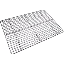 Checkered Chef Cooling Rack - Baking Rack. Stainless Steel Oven and Dishwasher Safe. Fits Half Sheet Cookie Pan