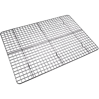Checkered Chef Cooling Rack Baking Stainless Steel Oven And Dishwasher Safe Fits Half