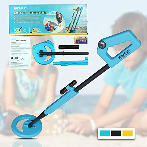 Assembly Detector (all-sun TS20A Junior Metal Detector for Children DIY Beach Yard Toy, Blue)