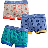 Kids and Boys Boxer Brief Short pentagram Underwear Cotton Pantie Set 2T-7T