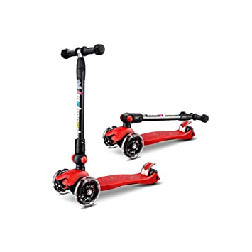 KTYXDE Scooter Plegable para Niños. Scooter De Tres Ruedas para Niños. Deslizamiento Intermitente En Las Cuatro Ruedas, 25x58x89cm.