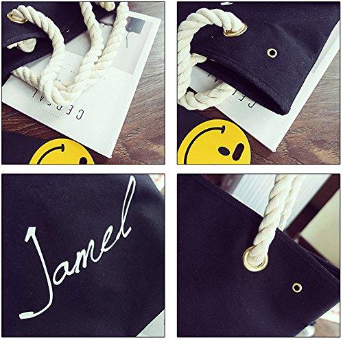 Wewod Sencillo Y Ocio Bolso de Bandolera Alta Capacidad Shoulder Bags Bolso Shopper Handbag 45 x 34 x 15 cm (L*H*W) Negro