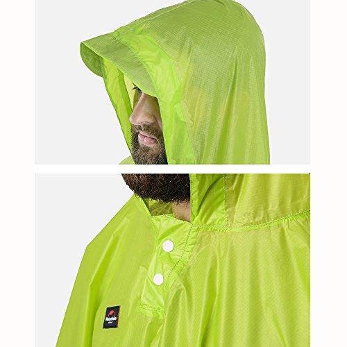 Naturehike 3en 1impermeable y al aire libre Camping mochila portátil senderismo pocho resistente al agua toldo, mujer hombre Infantil, verde azul