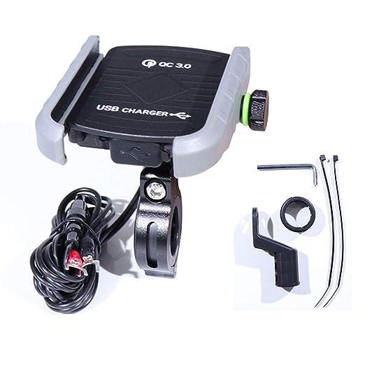 WINBST Soporte para teléfono para Motocicleta Cargador de ...