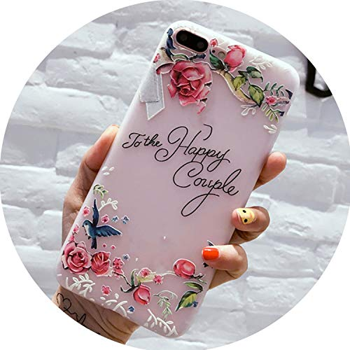 Flower Silicon Phone Case for iPhone 7 8 Plus XS Max XR Rose Floral Cases for iPhone X 8 7 6 6S Plus 5 SE Soft TPU Cover,5618,for iPhone XR