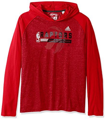 NBA Toronto Raptors Adult Men Fast Break Climate Ultimate L/S Hood, 4X-Large, Red